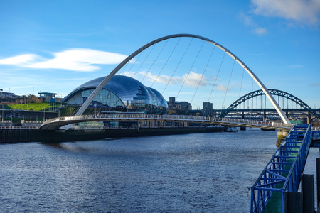 Dec 22, 2017 - View down the River Tyne from the Quayside, Newcastle upon Tyne, England. UK