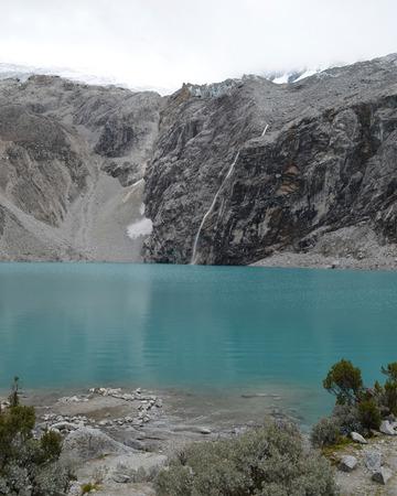 Laguna 69 in the Cordillera Blanca, near Huaraz Peru