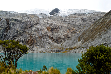 Laguna 69 in the Cordillera Blanca, near Huaraz Peru