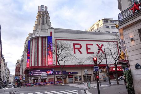 Dec 31, 2017 - The facade of the Grand Rex cinema, Paris, France