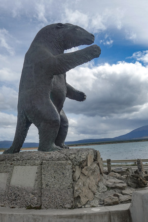 Feb 19, 2018 - A Milodon statue welcomes visitors to the town of Puerto Natales, Chile