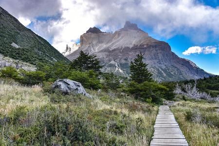 Cuerno Principal and the Valle Frances, Torres del Paine National Park. Patagonia, Chile