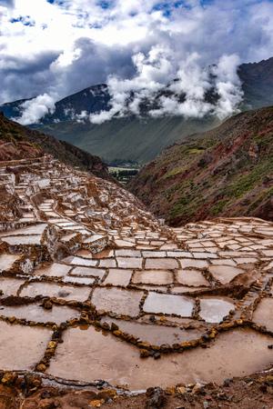 Salinas de Maras, man-made salt mines in the Sacred Valley near Cusco, Peru