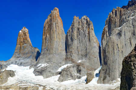 Views of the stunning landscapes in the Torres del Paine National Park, Patagonia, southern Chile