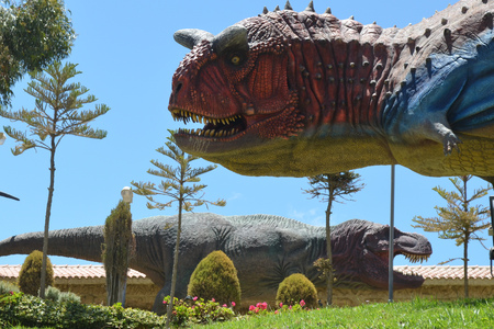 Parque Cretacico, Sucre - Dinosaur themed park in Bolivia with fossils and life-size statues