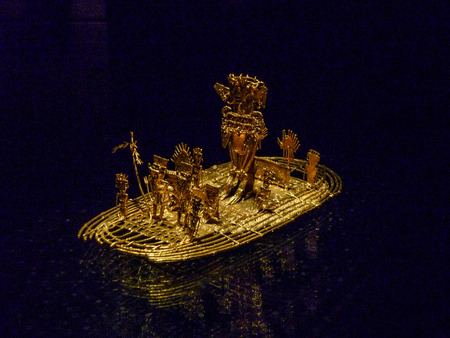 Nov 29, 2014 - Bogota, Colombia: Gold artifacts on display in the Museo del Oro (Gold Museum). Редакционное