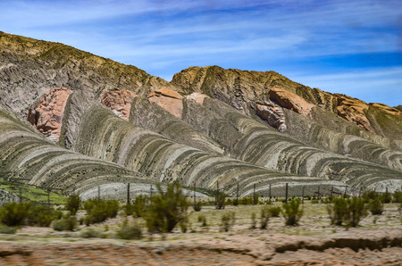 Espinar del Diablo (Devils Backbone), a rock formation created by tectonic plate movements near Humahuaca, Jujuy, Argentina