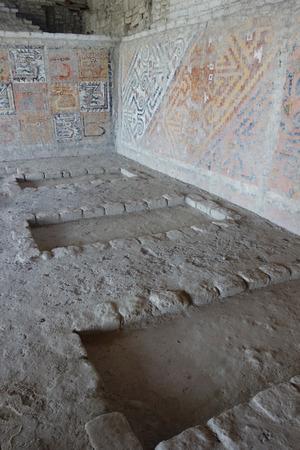 The El Brujo archaeological complex, north of Trujillo in La Libertad province, Peru. Stock Photo