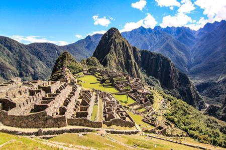 Machu Picchu, 'la ciudad perdida de los incas', un antiguo sitio arqueológico en las montañas de los Andes peruanos Foto de archivo