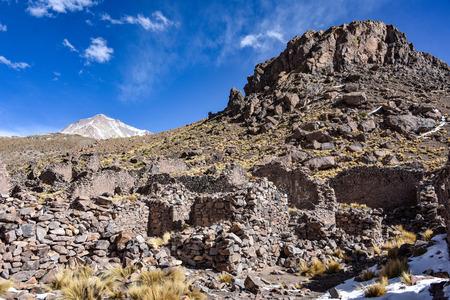 Pueblo Fantasma, an abandoned mining town near San Antonio de Lipez in the Sud Lipez Province, Potosi Department, Bolivia