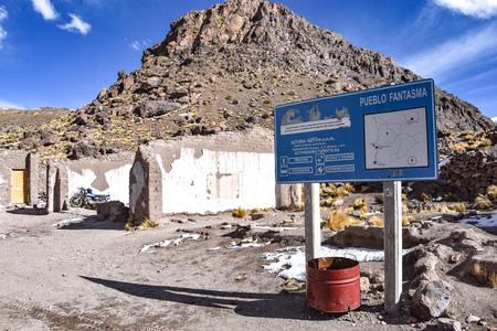 Pueblo Fantasma, una città mineraria abbandonata vicino a San Antonio de Lipez nella provincia di Sud Lipez, dipartimento di Potosi, Bolivia