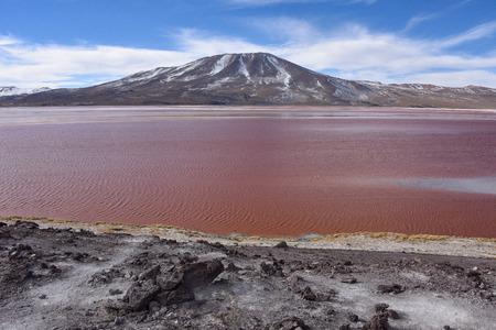 Laguna Colorada in the Eduardo Avaroa Andean Fauna Natural Reserve, Bolivia
