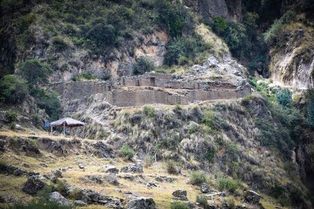 The Intiwatana and Pumacocha archaeological site, Ayacucho, Peru Archivio Fotografico - 125043304