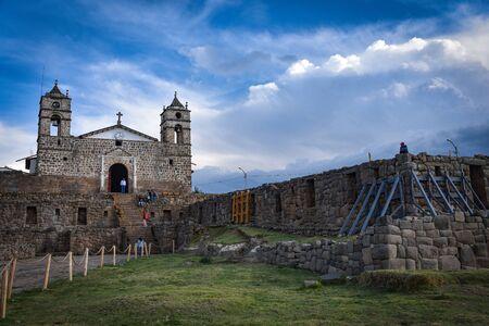The church of San Juan Bautista of Vilcashuaman, Ayacucho, Peru Zdjęcie Seryjne