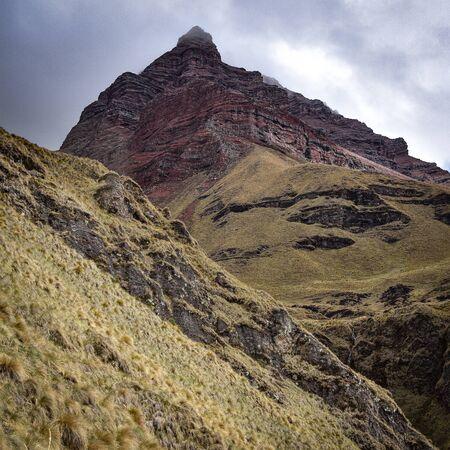 Dramatic mountain scenery on the Ancascocha Trek between Cusco and Machu Picchu