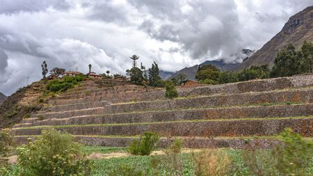 Terraces at the Urco archaeological site in the Sacred Valley of the Incas, Cusco, Peru Zdjęcie Seryjne
