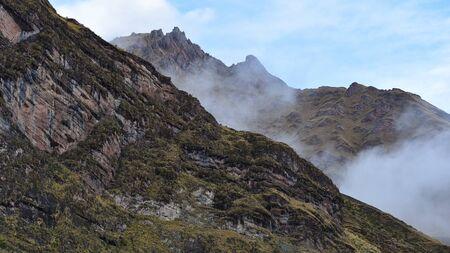 Dramatic Andean scenery on the Ancascocha Trek in the Cusco region of Peru Archivio Fotografico - 126520596