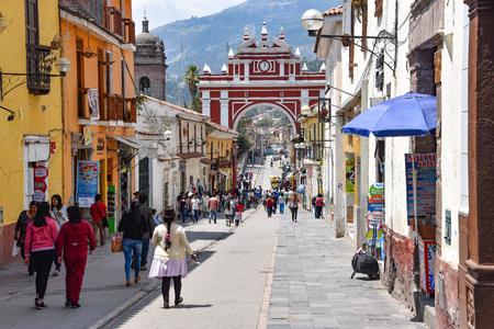 The Arch of Triumph in the city of Ayacucho, Peru