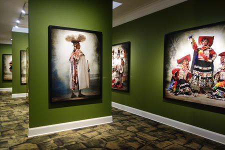 Lima, Peru - Nov 18, 2018: Alta Moda room at Peruvian photographer Mario Testinos MATE Gallery in the Barranco district