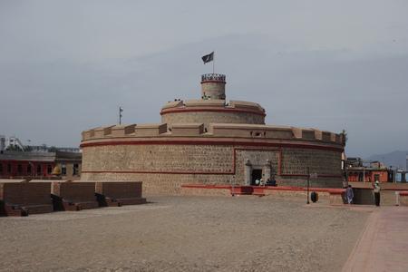 Real Felipe Fortress in the port of Callao, Lima, Peru Archivio Fotografico - 126534746