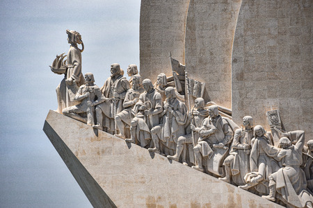 Lisbon, Portugal - July 26, 2019: Padrao dos Descobrimentos (Monument to the Discoveries), overlooks the Tagus river in Belem