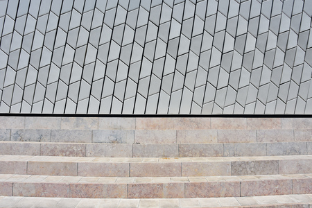 Lisbon, Portugal - July 26, 2019: Architectural detail of the MAAT (Museum of Art, Architecture and Technology) building Editöryel