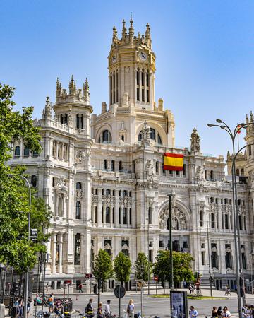 Madrid, Spain - July 22, 2019: City Hall building, Ayuntamiento de Madrid