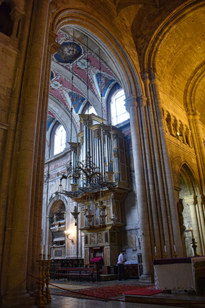 Lisbon, Portugal - July 27, 2019: Lisbon Cathedral, a Roman Catholic church located in the Alfama district