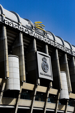Madrid, Spain - July 21, 2019: Estadio Santiago Bernabeu, home of Real Madrid 스톡 콘텐츠 - 129476663