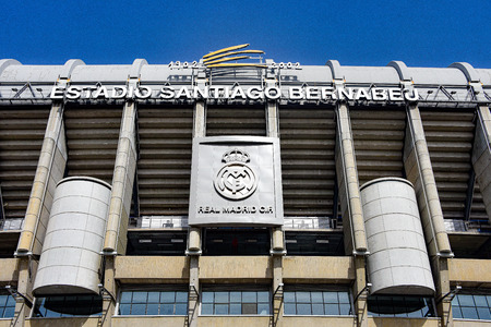 Madrid, Spain - July 21, 2019: Estadio Santiago Bernabeu, home of Real Madrid