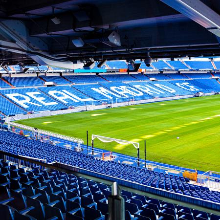 Madrid, Spain - July 21, 2019: Estadio Santiago Bernabeu, home of Real Madrid