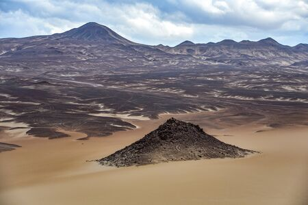 Landscapes and sand dunes in the Nazca desert. Ica, Peru.