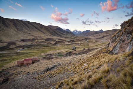 Stunning Andean mountain landscapes in the Chillca Valley. Ausungate, Cusco, Peru