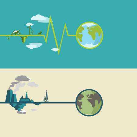 infographics world ecology of our land into flat design Vector