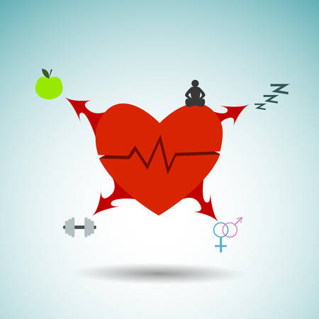 conduction: infographics  heart and all that is needed for this