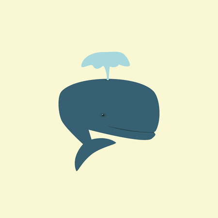 the figure of a blue whale produces fountain eps Vector