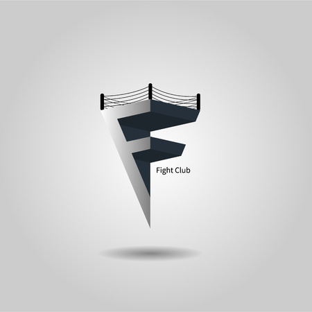 letter f for your fight club eps 10 Vector