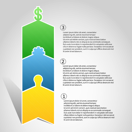 infographics vector arrows format eps 10 Vector