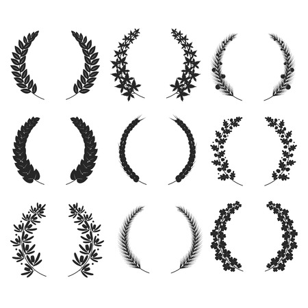 oak wreath: wreaths isolated for your design vector doodle