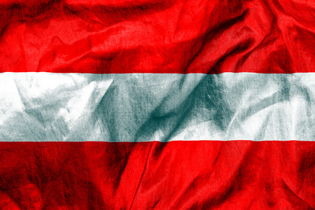 austrian flag: Austrian flag texture crumpled up