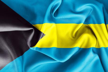 bahamian: Bahamas flag texture crumpled up