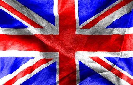 union jack flag: British Union Jack flag texture crumpled up