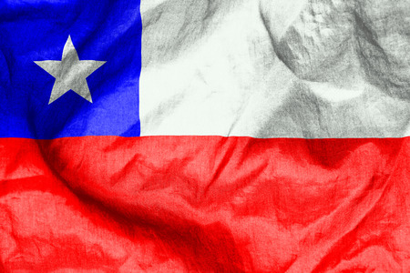 chile flag: Chile flag texture crumpled up