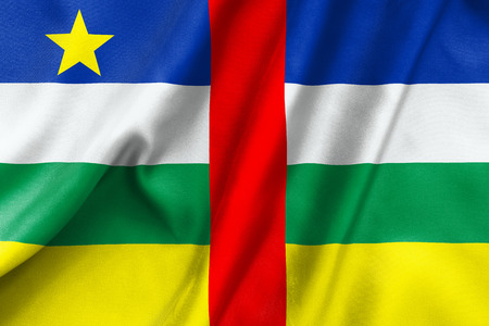 central african republic: Central African Republic flag texture crumpled up