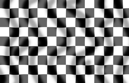 Chequered flag background with a slight ripple