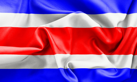 creased: Costa Rica flag texture creased and crumpled up with light and shadows Stock Photo