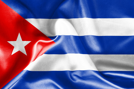 cuban flag: Cuban flag texture crumpled up