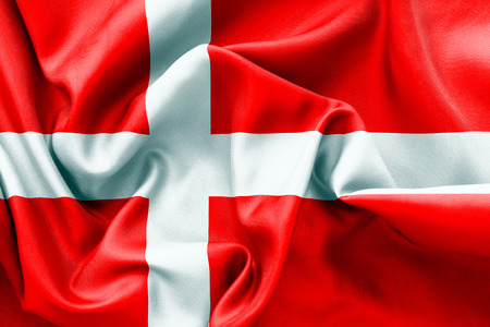 danish flag: Danish flag texture crumpled up