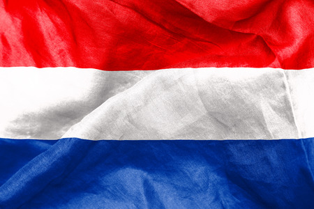 crease: The Netherlands flag texture crumpled up Stock Photo