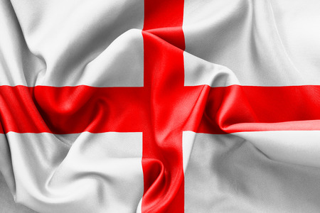 georges: England St Georges Cross flag texture crumpled up with light and shadows
